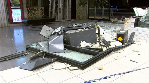 It's unclear how much cash was stolen. (9NEWS)