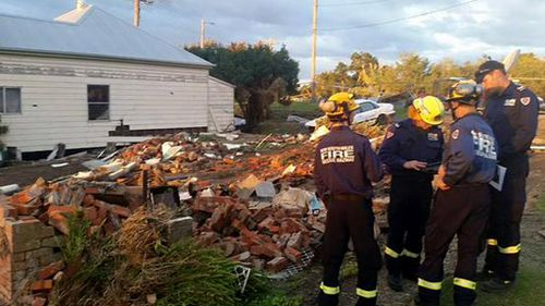 Authorities continue assessing the damage in Dungog. (NSW Fire and Rescue)