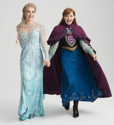 Frozen: The Musical, Australia, production, theatre, Courtney Monsma plays Anna, Jemma Rix plays Elsa