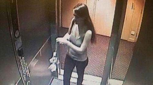 CCTV released of Sophie Collombet. (Queensland Police)