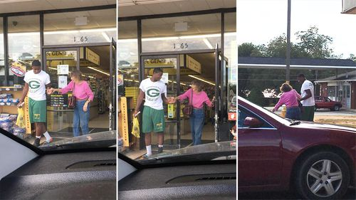 Teen praised for coming to elderly shopper's rescue