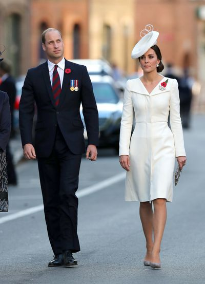 The Duke and Duchess of Cambridge attend Passchendaele commemorations