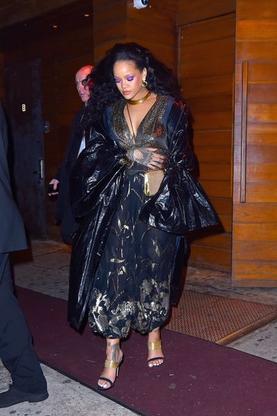 Rihanna leaving 1-OAK Nightclub after attending a Grammy's After Bash in NYC
