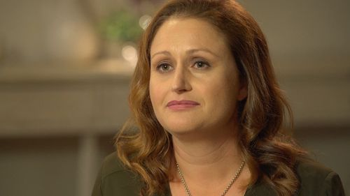 Former teacher Gabbie Stroud tells Steinfort she was forced to walk away from her career in 2014 after seeing too many colleagues crumble under the pressure. Picture: 60 Minutes