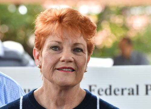 """Ms Hanson has defended her decision to take leave after working """"12 to 13"""" hour days leading up to the by-election. Picture: AAP"""