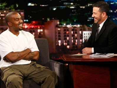 Kanye West on Jimmy Kimmel Live on August 9, 2018