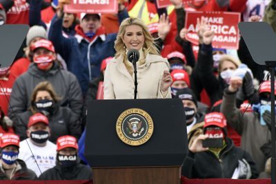 Ivanka Trump speaks at a Michigan campaign rally, 2020