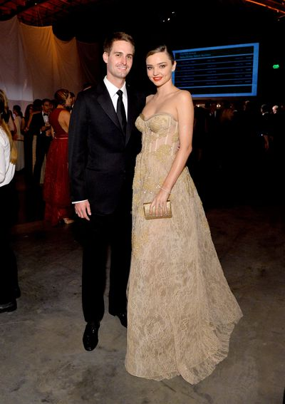 In her strapless Reem Acra gown with billionaire fianc&eacute;e Evan Spiegel by her side, Miranda Kerr has given her strongest audition yet for what she will be wearing down the aisle.<br /> The pair attended the Baby2Baby gala on the weekend but the main event, Miranda&rsquo;s eagerly-anticipated second time as a bride, has designers eager to dress the supermodel.<br /> While Miranda, 33, has only indicated next year as the time of the main event, don&rsquo;t be surprised if her wedding to the 26-year-old Snapchat founder sneaks up on you. In 2010 Miranda secretly married Hollywood actor Orlando Bloom, catching the media off guard.<br /> There were no pictures of Miranda&rsquo;s wedding to Orlando but we expect the runway regular, founder of Kora skincare and Royal Albert ambassador to go bigger than Ben Hur (meets Balenciaga) this time.<br /> We&rsquo;ve scoured the racks to find something suitable for a multi-million-dollar extravaganza. Cue the confetti.