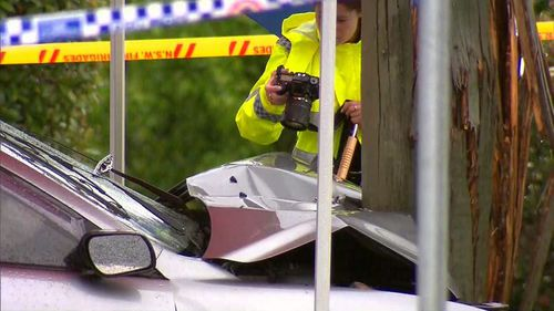 The 18-year-old driver of the car is under police guard in hospital.