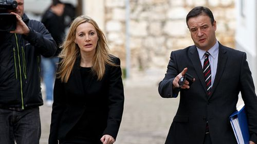 Detective Chief Inspectors Nicola Wall and Andy Redwood arrive at Faro's Police Station during an investigation on Madeleine McCann case on December 11, 2014 in Faro, Portugal.