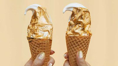 Australia's first edible gold ice cream