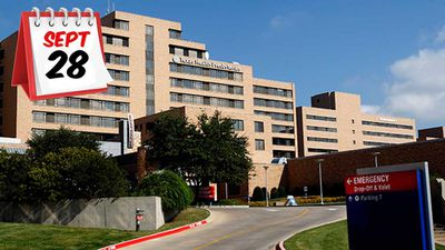 """<b _tmplitem=""""7"""">September 28</b>: Mr Duncan was eventually readmitted to Texas Presbyterian Hospital, but it is believed he could have infected up to 18 people with the virus beforehand."""