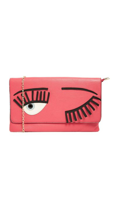 "<p><a href=""http://www.asos.com/au/yoki-fashion/yoki-fashion-eye-clutch-bag/prod/pgeproduct.aspx?iid=5092362&amp;clr=Pink&amp;searchterm=eyes&amp;pgesize=131&amp;pge=1&amp;totalstyles=335&amp;gridsize=3&amp;gridrow=35&amp;gridcolumn=2"" target=""_blank"">Eye Clutch Bag, $58, Yoki Fashion at Asos</a></p>"