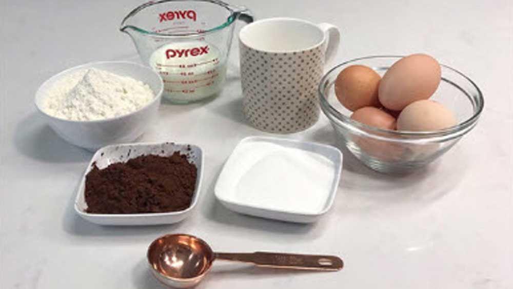 Five minute chocolate mug cake proof