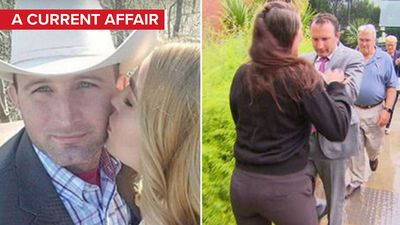 'F---ing a---hole': Love rat and former flame clash outside court