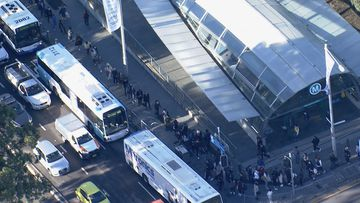There were massive queues in Sydney's north during peak hour after a train breakdown.
