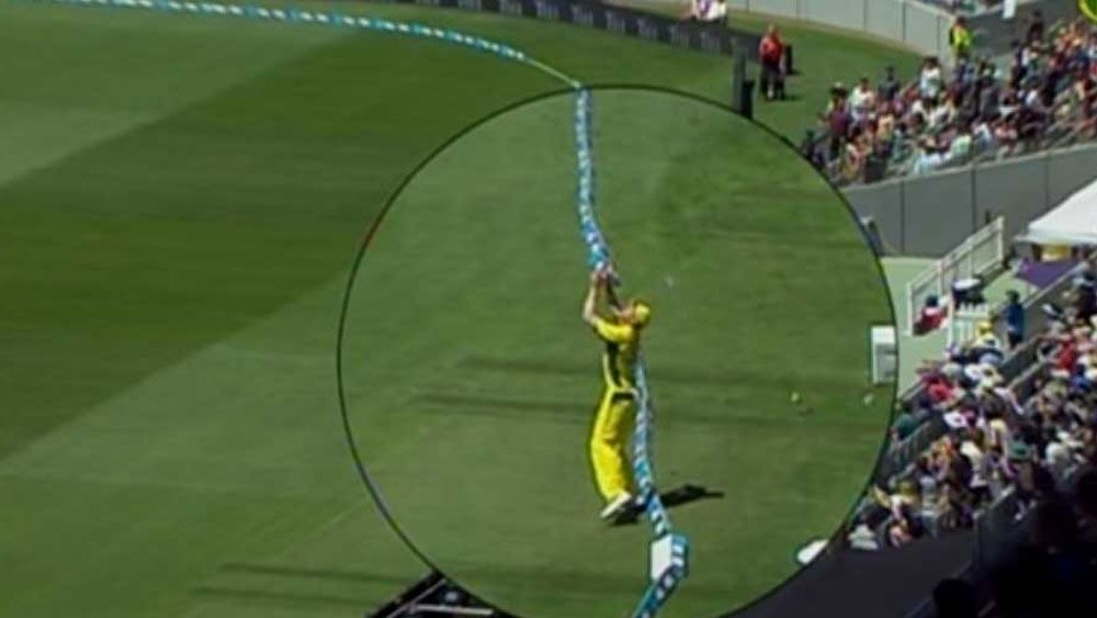 Dodgy rope costs Hazlewood stunning catch