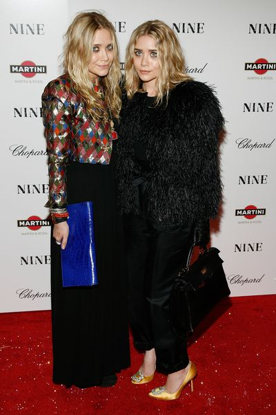Mary-Kate and Ashley Olsen at the New York screening of NINE in December, 2009