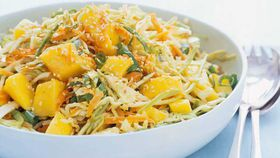 Mango and sesame coleslaw