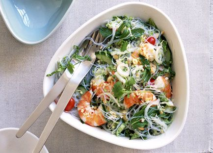 Little Thai prawn and glass noodle salad