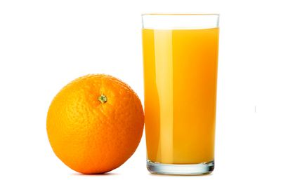 100 percent fruit juice: 24g sugar/six teaspoons per 250ml cup