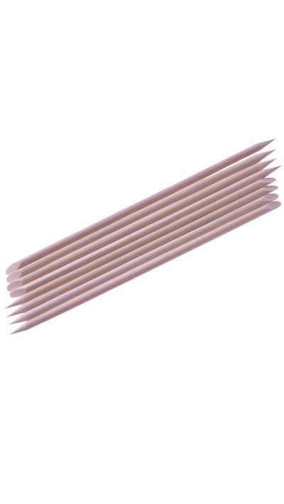 <p>Never cut cuticles - this increases chance of infection and only encourages regrowth. Instead, use disposable cuticle sticks to push them back.</p>