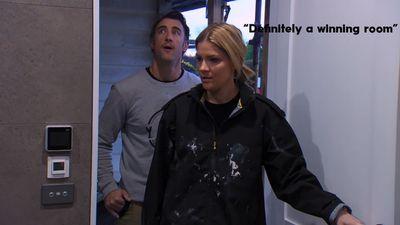 """""""Definitely a winning room,"""" Hannah says of Josh and Eylse's bathroom."""