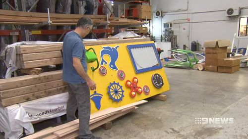 Don Wark has been manufacturing play equipment for more than 30 years. Picture: 9NEWS