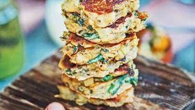Nonna's leek and spinach fritters