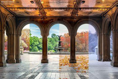 Bethesda Terrace in Central Park, New York, USA