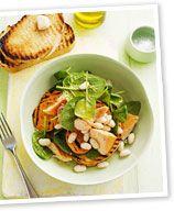 Sweet potato, trout and cannellini bruschetta
