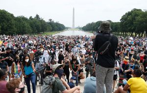 Thousands rally in US capital on 12th day of George Floyd protests