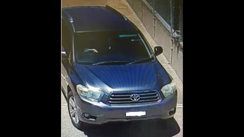Police believe the suspect may drive a grey Toyota Kluger. (NSW Police)