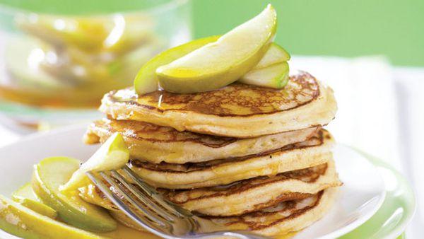 Wholemeal ricotta pancakes