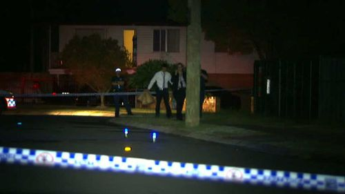 A crime scene has been set up as police search the area. (9NEWS)