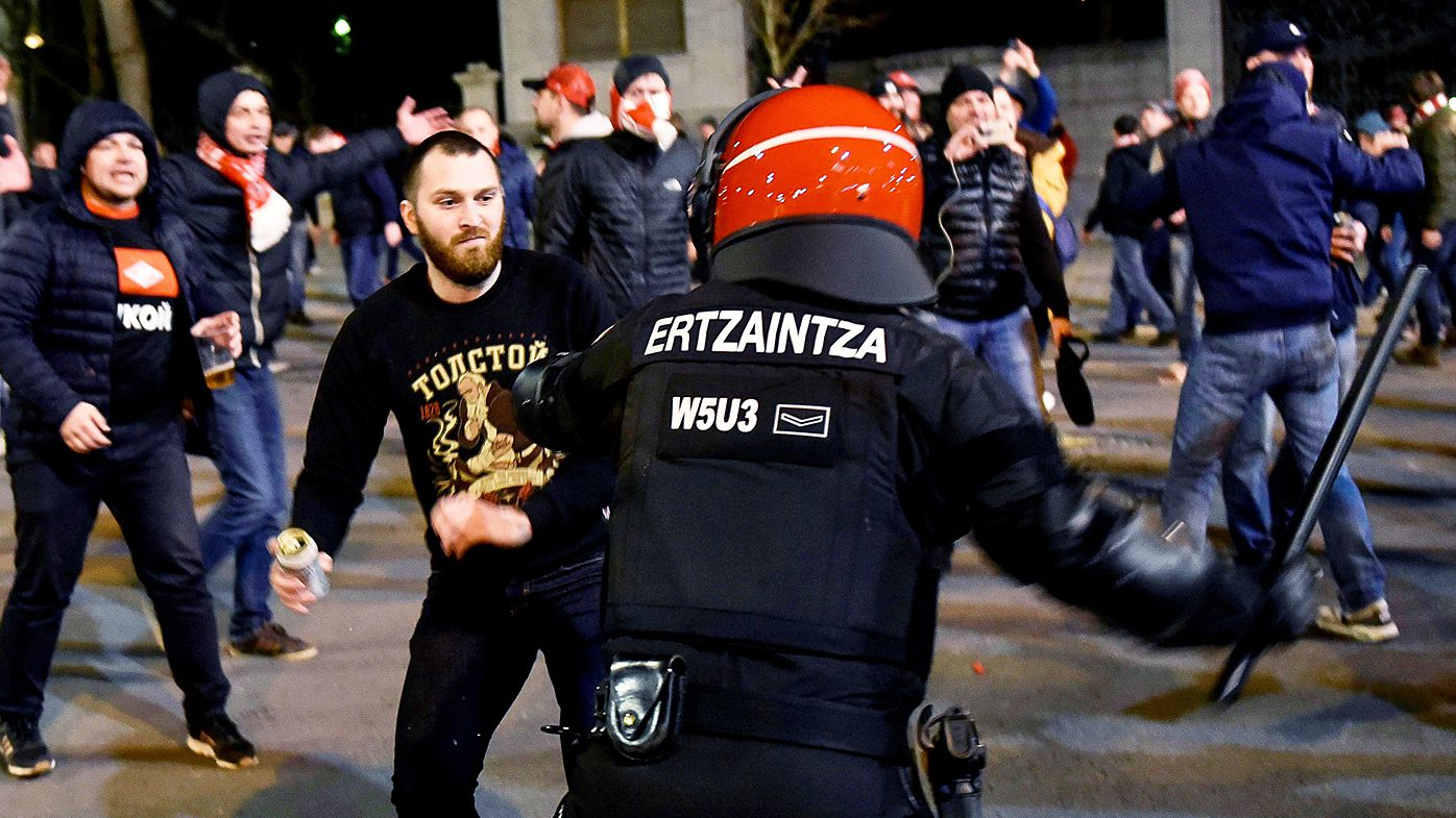 Football: Policeman dies in clash with Spartak fans in Bilbao