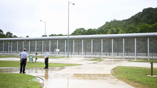 Inside the Christmas Island detention centre.