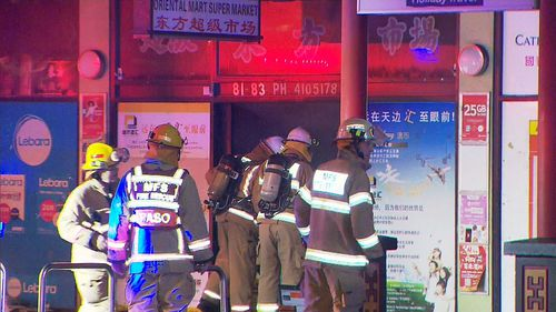70 firefighters have helped fight the blaze on Grote Street. (9NEWS)