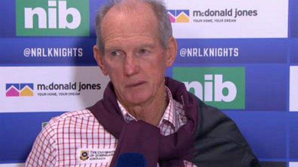 Former Newcastle coach Wayne Bennett urges Knights to have patience with Nathan Brown