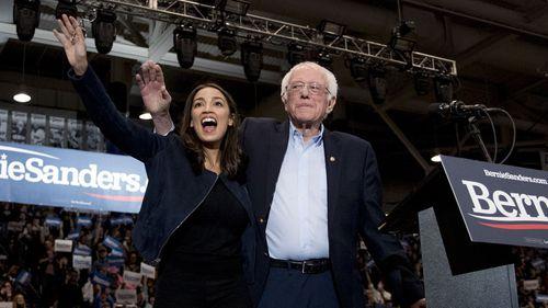 Bernie Sanders (seen here with Congresswoman Alexandria Ocasio-Cortez) has won the New Hampshire primary.