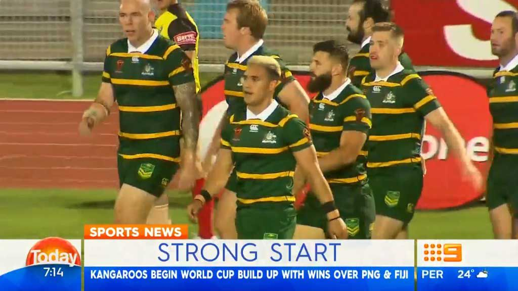 Kangaroos beat Fiji and PNG