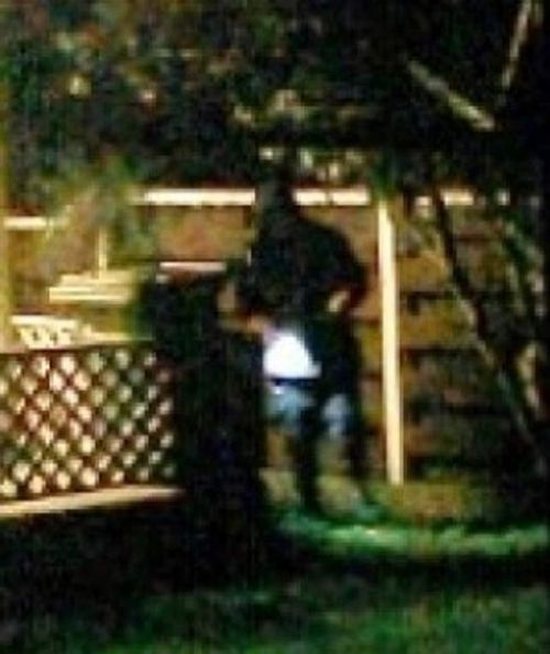 Using a smartphone security app called Salient Eye, the parents were able to record dozens of photographs of the intruder. (Supplied)