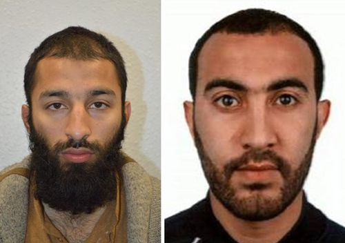 Khuram Shazad Butt (left) and Rachid Redouane (right), two of the men shot dead by police following terrorist attack in London on 3 June 2017.