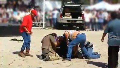 Bear Grylls Caught on Camera Alligator Attack