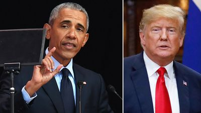 Obama slaps down 'shameless, lying' Trump in Mandela address