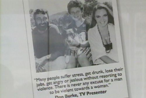 Don Burke appeared in a campaign aimed at stopping violence against women in 1993 (ABC News).