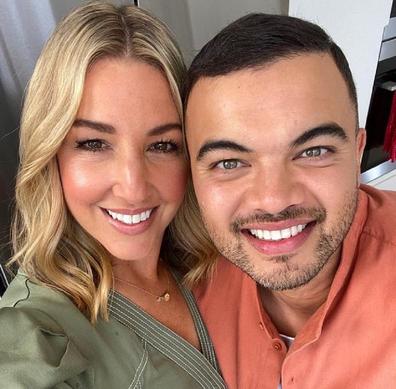 Jules and Guy Sebastian Instagram photo