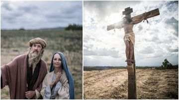 New organ transplant ad depicts dying Jesus on cross