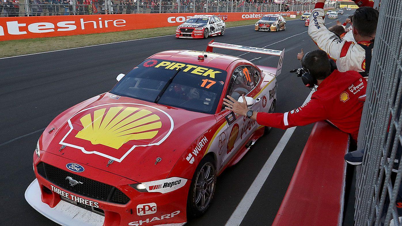 Scott McLaughlin drives the #17 Shell V-Power Racing Ford to win the Bathurst 1000