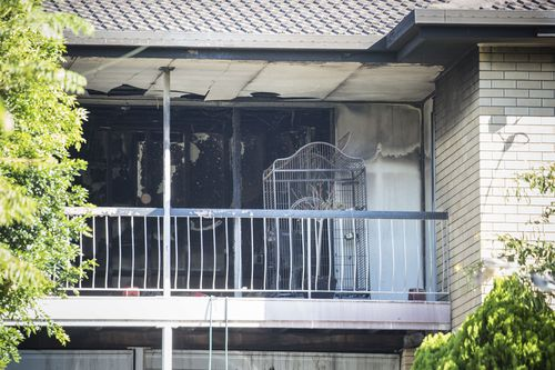 Neighbouring residents have told police they smelt fuel and heard strange noises from inside the house during the fire. (AAP)